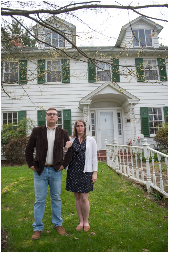 American Gothic Inspired Engagement Photo