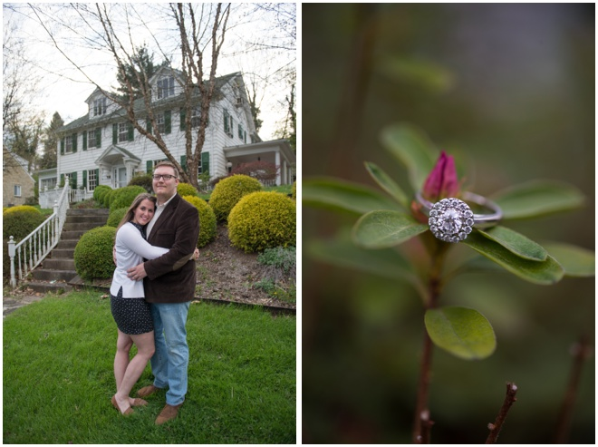 Engagement Ring on Rhododendron